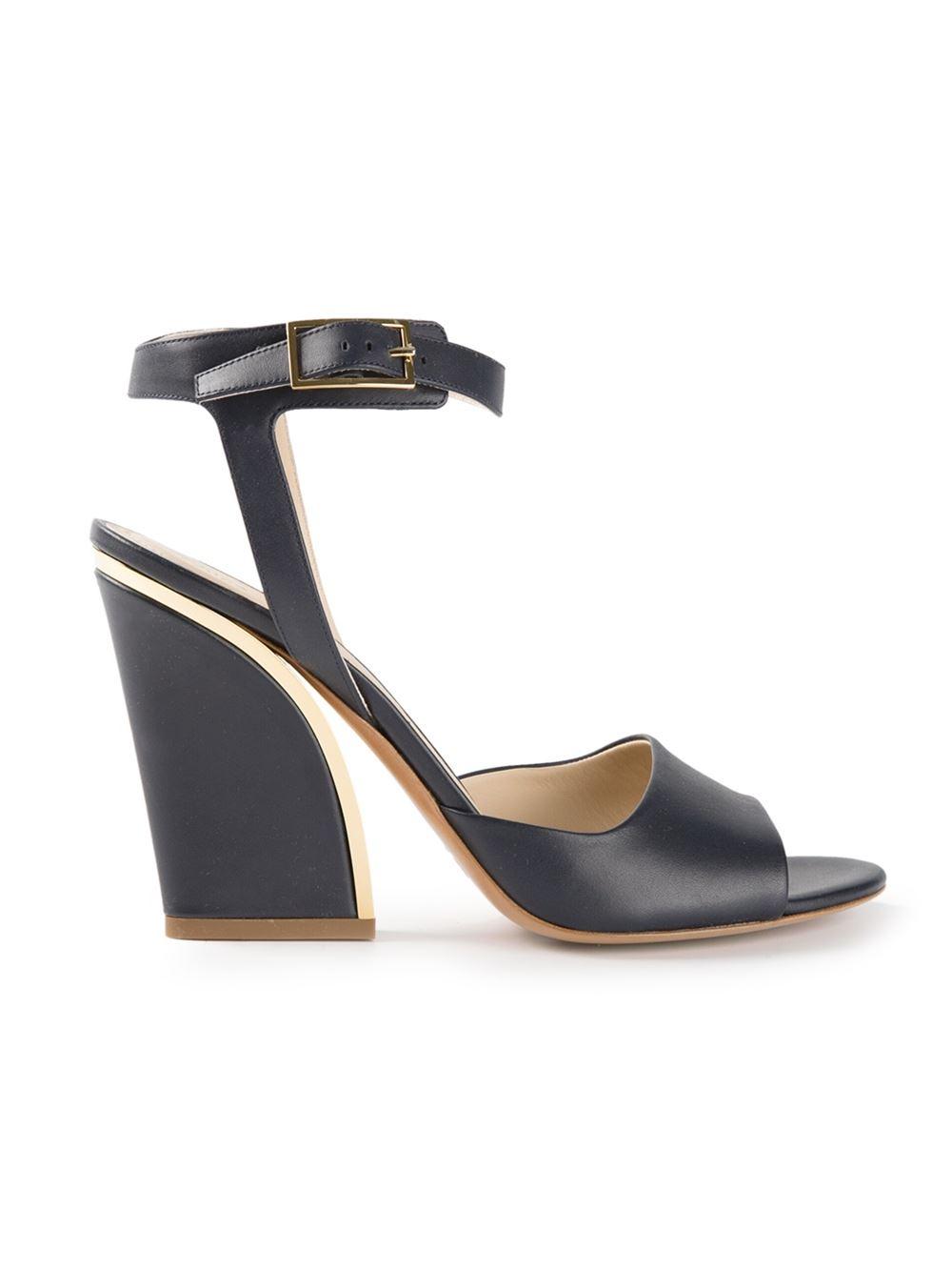 Chloé Chunky Heel Sandals - Biondini Paris - Farfetch.com