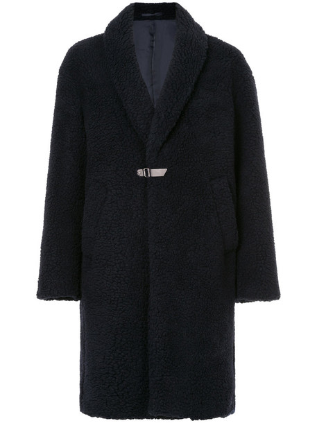Cityshop coat women midi blue wool