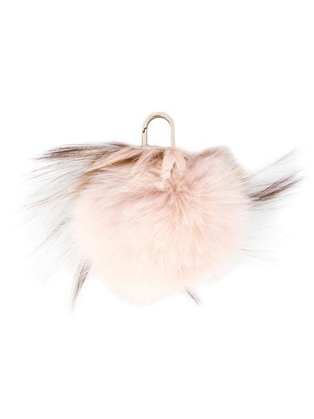 Yves Salomon bag charm fur women bag purple pink
