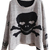 ROMWE | Romwe Asymmetric Skull Long-sleeved Grey Jumper, The Latest Street Fashion