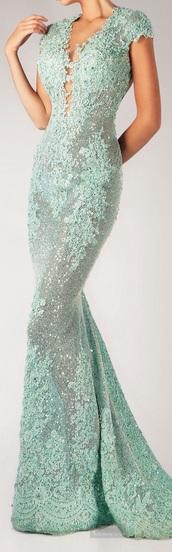 dress,long dress,blue dress,green dress,mermaid prom dress
