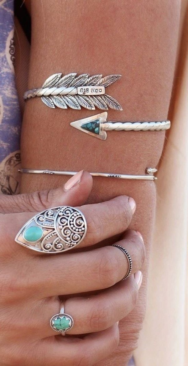 jewels statement ring Arm Cuff