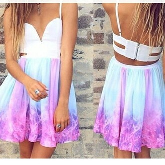 dress tie dye tie dye dress skirt purple dress mini dress summer outfits multi colored dress
