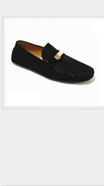 a4574216c16 shoes black and gold slip on men loafers
