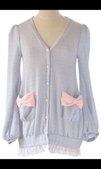 cardigan kawaii fairy kei cute sweaters pastel sweater harajuku fashion pastel harajuku cute cute sweater bows
