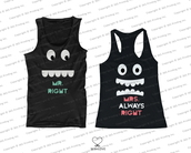 tank top,newlyweds gift,mr right,mrs always right,mr and mrs right,mr and mrs,mr and mrs shirts,matching couples,his and hers tank tops,his and hers clothing,his and hers gifts,matching tank tops