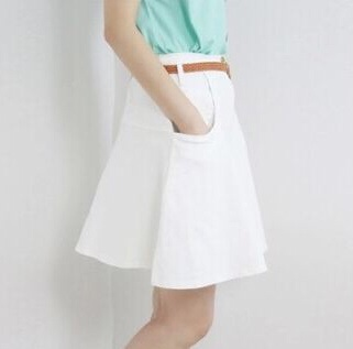 Beautiful double pocket belted skater skirt from doublelw on storenvy