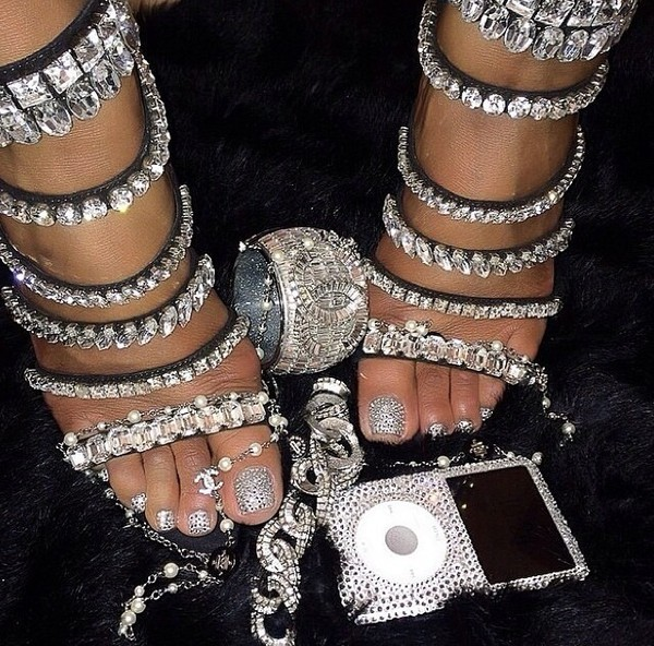 shoes jewels