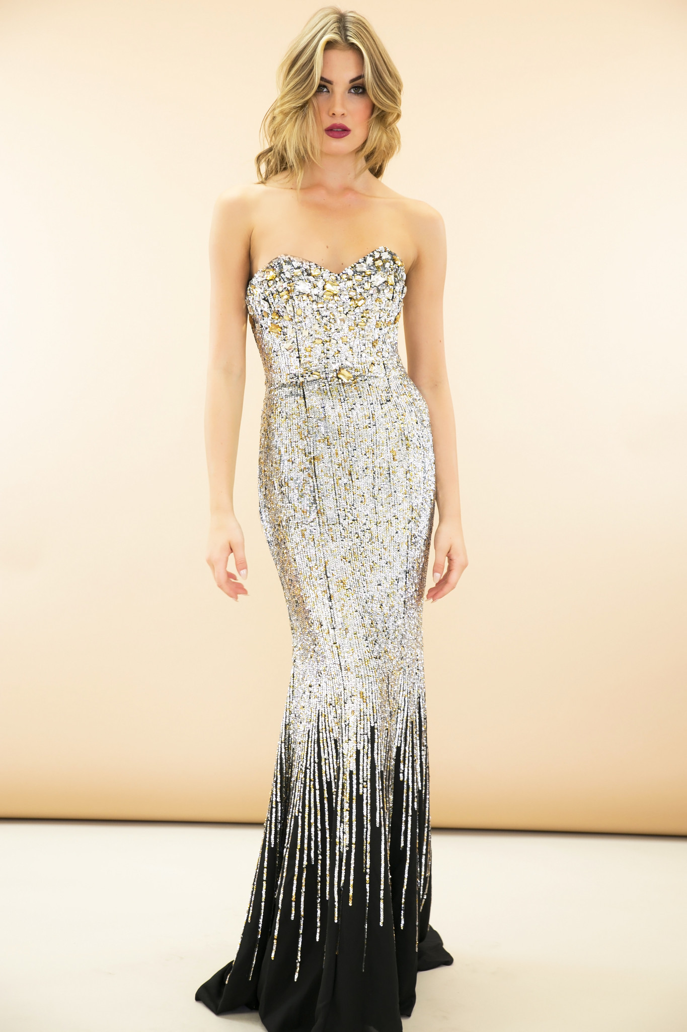 Marquesa sequin gown