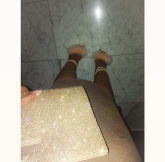 shoes nude pink fluffy heels pumps