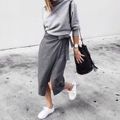 skirt,grey,soft,midi,joggers,basic,plaid skirt,skater skirt,pencil skirt,grey skirt,grey dress,blogger,top blogger lifestyle,oh my blog,blogger chic,zara,zara skirt,streetstyle
