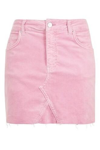 skirt velvet skirt velvet pink dusty pink