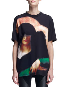Givenchy Pixelated Madonna T-Shirt - Neiman Marcus