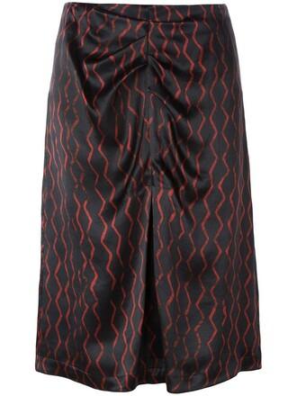 skirt women cotton black silk