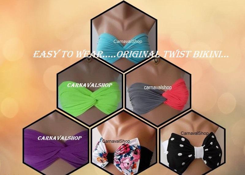 Spandex Bandeau -Swimsuit -Swimwear-Bikini top-bikini-sun bathing-neon-pink beachwear(PADDED)