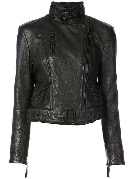 OSKLEN jacket biker jacket women black