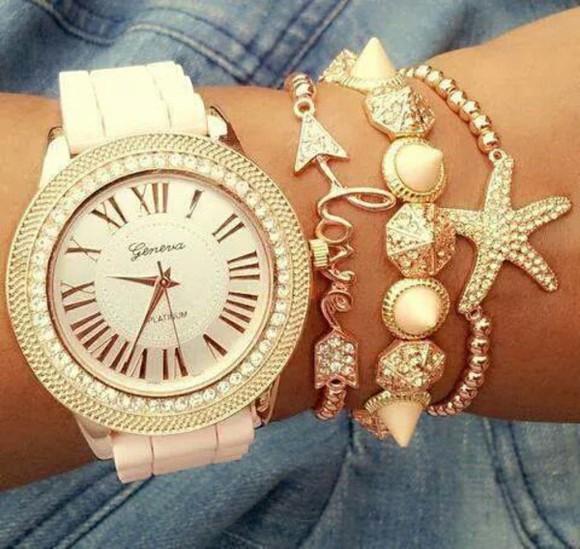 shiny elegant jewels watch geneva