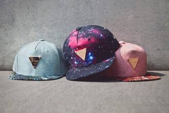 cap galaxy print blue superman pink
