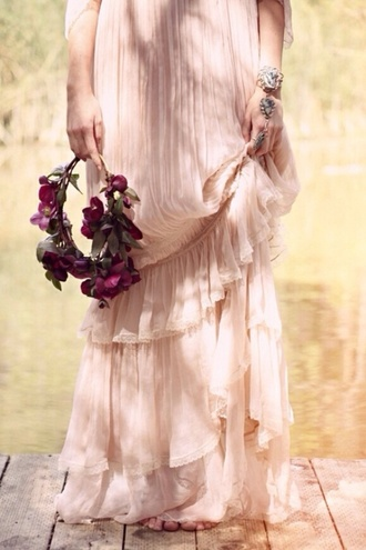 fairytale long dress fairytale dress long dresses baby pink baby pink pink dress