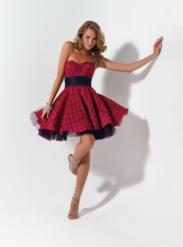dress plaid pink
