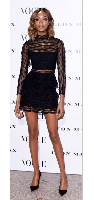 dress mini dress black dress jourdan dunn pumps lace dress mesh mesh dress