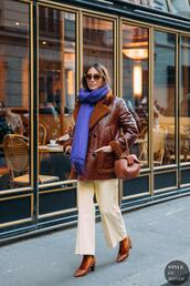styledumonde,blogger,bag,jacket,shoes,socks,scarf,sunglasses,pants,leather jacket