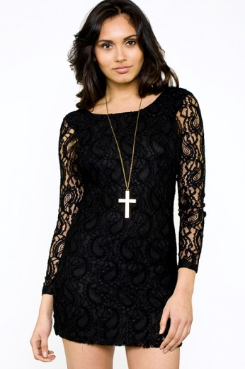 Motel Damita Dress- Motel Rocks Dresses- Black Dresses- $48