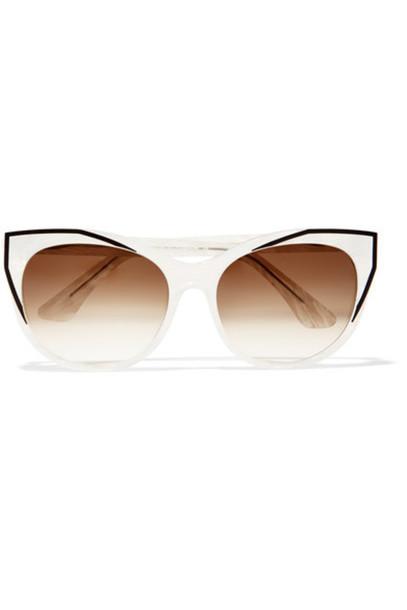 Thierry Lasry - Polygamy Cat-eye Acetate And Gunmetal-tone Sunglasses - Ivory