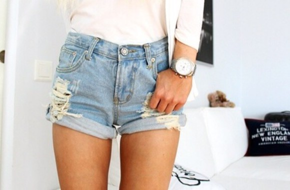 victoria's secret shorts high waisted denim shorts cut off shorts jeans shorts shirt t-shirt band t-shirt