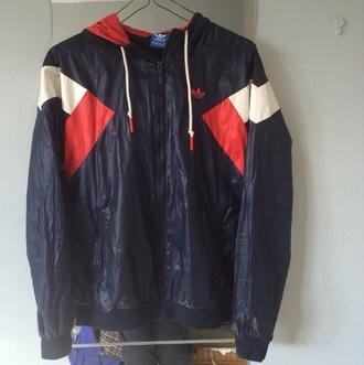 jacket adidas red white and blue adidas windbreaker instagram love adidas superstars adidas originals kickass