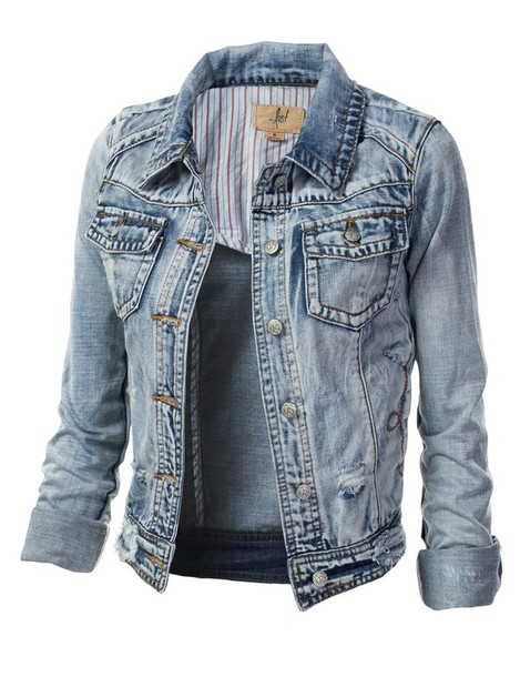 Light Blue Jean Jacket - Coat Nj