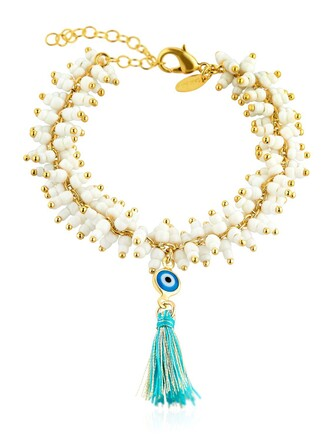 gold white blue jewels