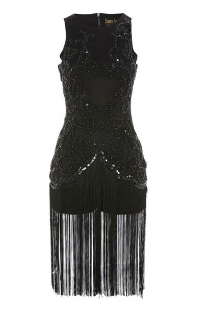 Topshop embellished black romper