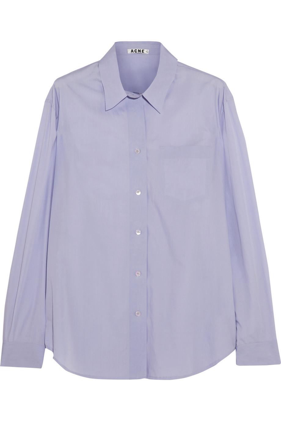 Acne Studios Patti cotton-poplin shirt – 60% at THE OUTNET.COM