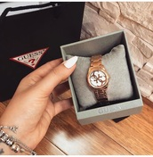 home accessory,guess,gold,love,trademark,watch,it's a guess watch