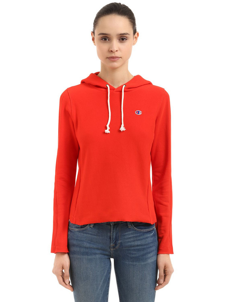 CHAMPION Logo Recycled French Terry Sweatshirt in red