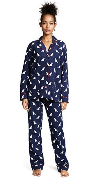 Pj Salvage pajamas cats flannel navy underwear