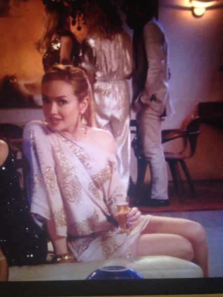 beading gossip girl dress feathers champagne dress