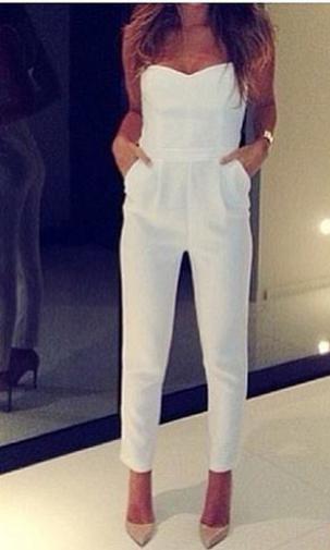 Cari white jumpsuit