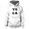 Yoga font hoodie