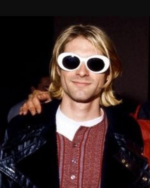 Sunglasses Kurt Cobain Glasses Sunnies White White