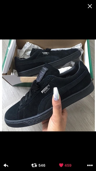 shoes puma puma suede puma sneakers black