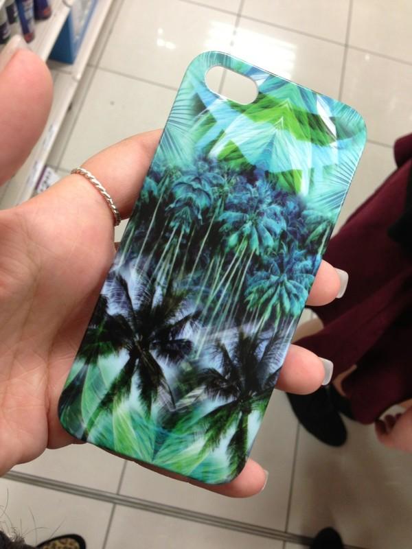 shirt phone cover phone palm tree print