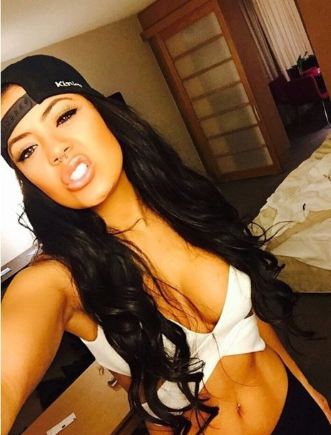 top white black kinky tazs angels white t-shirt white top white crop tops white shirt girly girl style fashion hat septums septum piercing jewels