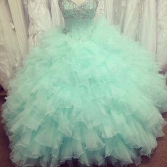 dress aqua turquoise ruffle sweetheart dresses sweet 16 dresses quinceanera dreses quinceanera dress bedazzled sweetheart neckline puffy poofy dress poofy
