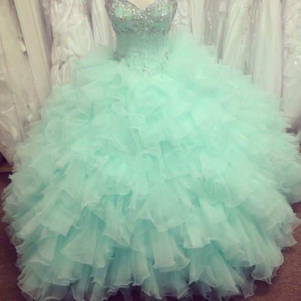aqua-turquoise-ruffles-sweetheart-dresses-sweet-16-dresses-quinceanera    Quinceanera Dresses 2014 Turquoise