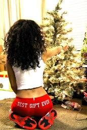 shorts,red,tank top,white,christmas,swag,air jordan,curly hair,clothes