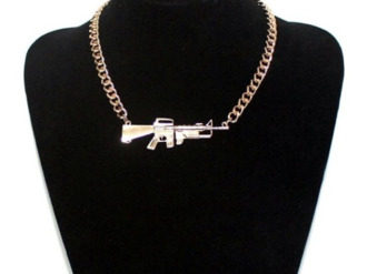 jewels necklace gun bling accessory