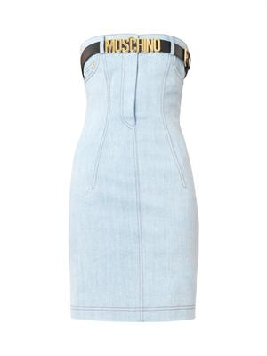 Strapless belted denim dress | Moschino | MATCHESFASHION.COM