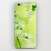 phone cover,spring,flowers,green,yellow,cherry,girly,iphone cover,iphone case